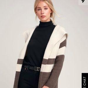 Lulu's Carlsbad Hooded Cardigan Sweater
